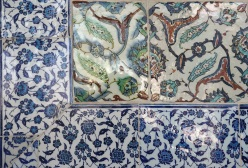 Colourful wall tiles