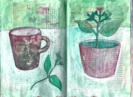 Cup and plant