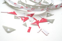 Fabric tape pieces