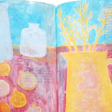 Still life with yellow jug
