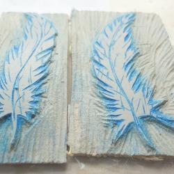 Linocut Feathers