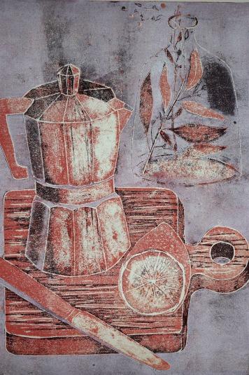 Still Life with Espresso Maker