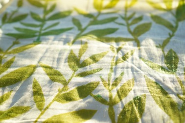Grünes Kissen