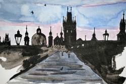 Zeichnung Prag