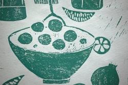 Detail Linoldruck