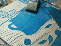 Holzschnitt Platte