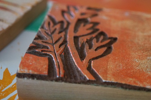 Stempel mit Linolplatte