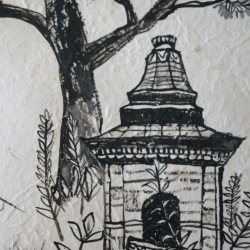 Nepal Ink Drawing 4