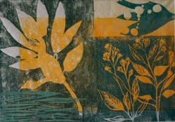 Rhododendron - Linolschnitte