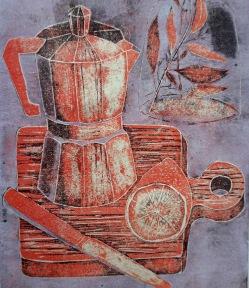 Stillleben mit Espressokanne