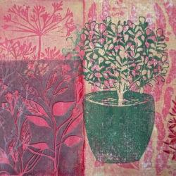 Topfpflanze - Linolschnitt