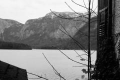 Blick auf See und Berge