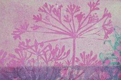 Linoldruck Blüten