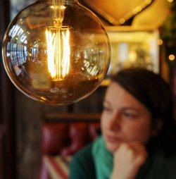 Porträt mit Lampe