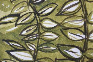 Tuschezeichnung Blätter