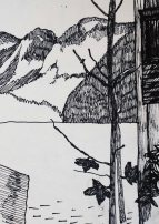 Zeichnung Hallstätter See