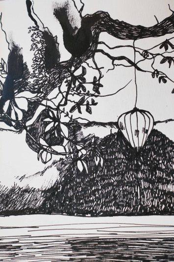 Zeichnung Lampions
