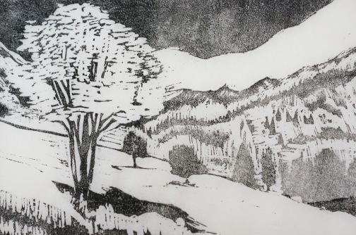 Alpine Landschaft 2